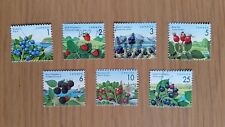 Complete used Canada stamp set - 1992-98 Edible Berries definitives