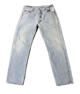 VTG Levis 501 Button Fly Jeans Size 33 X 32 Made USA