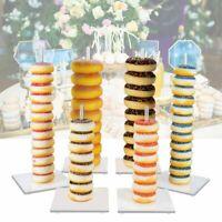 6Pcs Acrylic Doughnut Stand Donut Wall Display Wedding Party Holder Decor