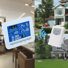 Wireless Color Display Weather Station Indoor Outdoor Thermometer Temp Humidity