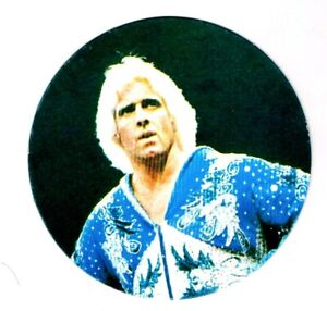RARE 1983 Japanese Jumbo Menko Disc Cosmos Ric Flair NJPW Wrestling Rookie Card