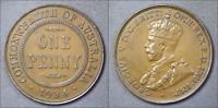 1934 Australian Penny - aUNC - 8 Plearls - Superb Detail (KG20)