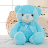Light Up LED Teddy Bear Doll Stuffed Animals Plush Soft Toys Kids Xmas Gift WE9X