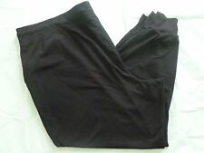 NEW DANSKIN NOW 4X 3X 26-28W Knit Pants Cuffs Cotton/Poly/Spandex Pockets Black
