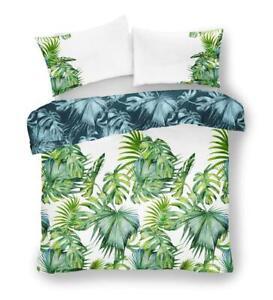 Bedding set green forest fern palm leaves jungle print duvet sets quilt cover