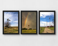 4x6in Set of 3 windmill pictures country photography wall art photo collage