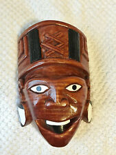 SMILE MASK WARRIOIR WOOD CARVED NEW.