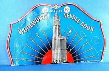 """Vintage """"Woolworth"""" Needle Case Book Made in Western Germany"""