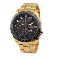 DE Herren Damen uhr Weiß Silber Gold Analog Strass Edelstahl Armbanduhr Watch