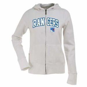 NWT New York Rangers Ladies Signature Applique Full Zip Hoodie White Medium