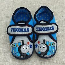 NEXT Thomas The Tank Engine Blue Slippers Hook & Loop Non Slip Size 9 Eur 26.5