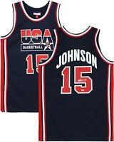 Magic Johnson LA Lakers Signed Mitchell and Ness USA Dream Team Authentic Jersey