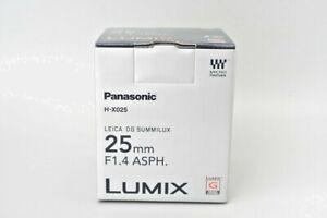 *NEW* Panasonic Leica DG Summilux 25mm f/1.4 ASPH. Lens (H-X025E)