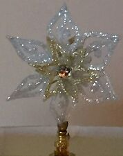 Two Tone Snowflake Lamp Shade Finial-New-Handcrafted by Lamp Shades Plus