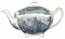 Johnson Brothers Old Britain Castles Blue Teapot  NEW