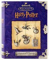 2000 HOGWARTS CHARMS NEW Hallmark Harry Potter MINI Ornament Sorting Hat Snitch