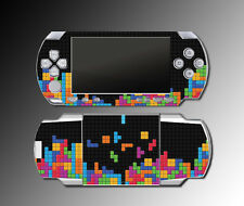 Tetris Retro Custom Design Look Blocks Video Game SKIN Cover for Sony PSP 1000