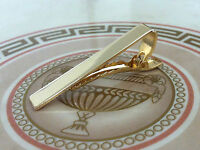 Mens Thick 5CM x 1CM Gold Tie Bar - Pure Chrome Stainless Steel - Clip Clasp Pin