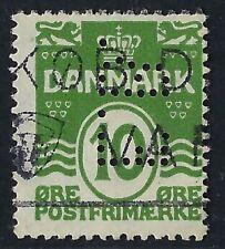 Denmark Perfin E03 - E.B.: Erhvervs Banken (1921-1927), 2001 Catalog is RF: 50