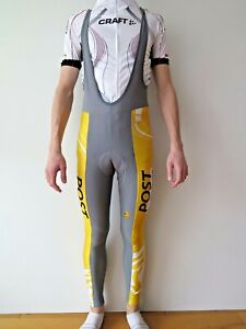 ASSOS Sportline Swiss Team Men's Thermal Fleece Lined Winter Bib Tights Size L