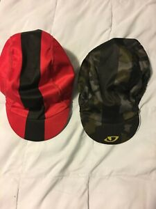 Giro Cycling Caps (2) - OS - Red/Black & Camo/Yellow