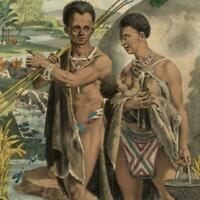 """South Africa """"Caffers"""" natives 1836 beautiful ethnic costume print"""