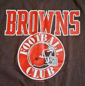 Cleveland Browns, BROWNS FOOTBALL CLUB Helmet Logo/Lettering 1988 VintageT-Shirt