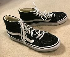 Vans Black and White Hi Tops Mens Size 6.5 Womens Sz 8 Shoes Sneakers Black Whi
