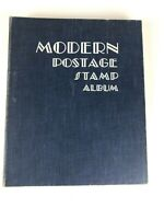 1952 Edition Modern Postage Stamp Album Book Scott Coin Co w/ 500+ Stamps