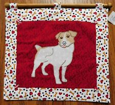Handmade Jack Russell Terrier Hand Stitched Wall Hanging One of a Kind!