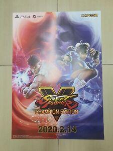 01x Street Fighter V Champion Edition Poster (H 72cm x L 51cm) (Official/BN)