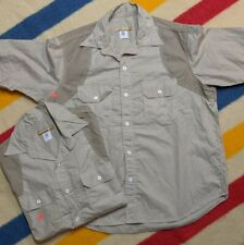 NEW Post Overalls O'All's USA Spanish Curves Cut & Sew Short Sleeve Work Shirt L