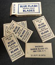 Vintage USA Razor Blades BLUE FLASH Pack of 5 RARE