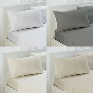 4 Pce - Fieldcrest 500TC Cotton Rich Sheet Set 40cm Wall - KING SIZE