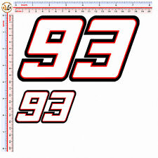 adesivi casco helmet number 93 marquez sticker motocycle 4 pz print H. 10-5 cm.