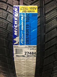 1 New 285 40 19 Michelin Pilot Alpin PA3 Snow Tire