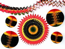 6-Piece Complete Kwanzaa Honeycomb Holiday Decoration Set (Red/Gold/Black/Green)