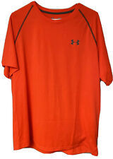 Mens Under Armour Heat Gear S/S Athletic T-Shirt Size Large - Orange