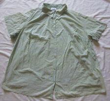 ULLA POPKEN Bluse * blassgrün * Kurzarm * Gr. 62/64 * 100 % Baumwolle