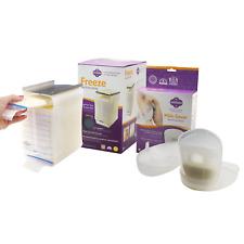 Fairhaven Health Milkies Saver + Freeze Breast Milk Collection Storage Organizer