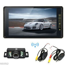 """Wireless Backup Camera+9"""" Car Rear View Mirror Color Monitor Night Vision System"""
