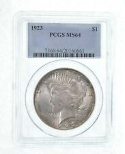 MS64 GRADED - 1923 Peace Silver Dollar- PCGS *538