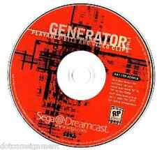 SEGA DREAMCAST Sampler Generator Playable Bits & Video Clips Vol. 1 DISC ONLY