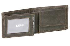 Minibörse mit Klappe im Querformat LEAS MCL in Echt-Leder, schwarz