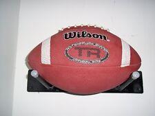 Black Wood Storage Football Rack Display Holder Mounts On Wall Sport Gargage