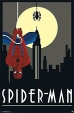 MARVEL COMICS THE AMAZING SPIDERMAN ART DECO POSTER NEW 22x34 FREE SHIP