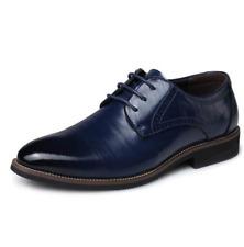 Hombres Cuero Con Cordones Zapatos transpirables Boda Vestido novio Oxfords zapato de negocio D