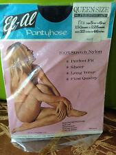 Exciting! Vintage El Al nude queen size Navy pantyhose w/ model