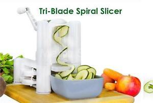 Spiralizer Spiral Slicer Tri Blade Chopper Peeler Vegetable corer chef apple