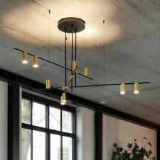 Modern 3/9 Light Suspension Chandelier Linear LED Spotlight Ceiling Lamp Fixture